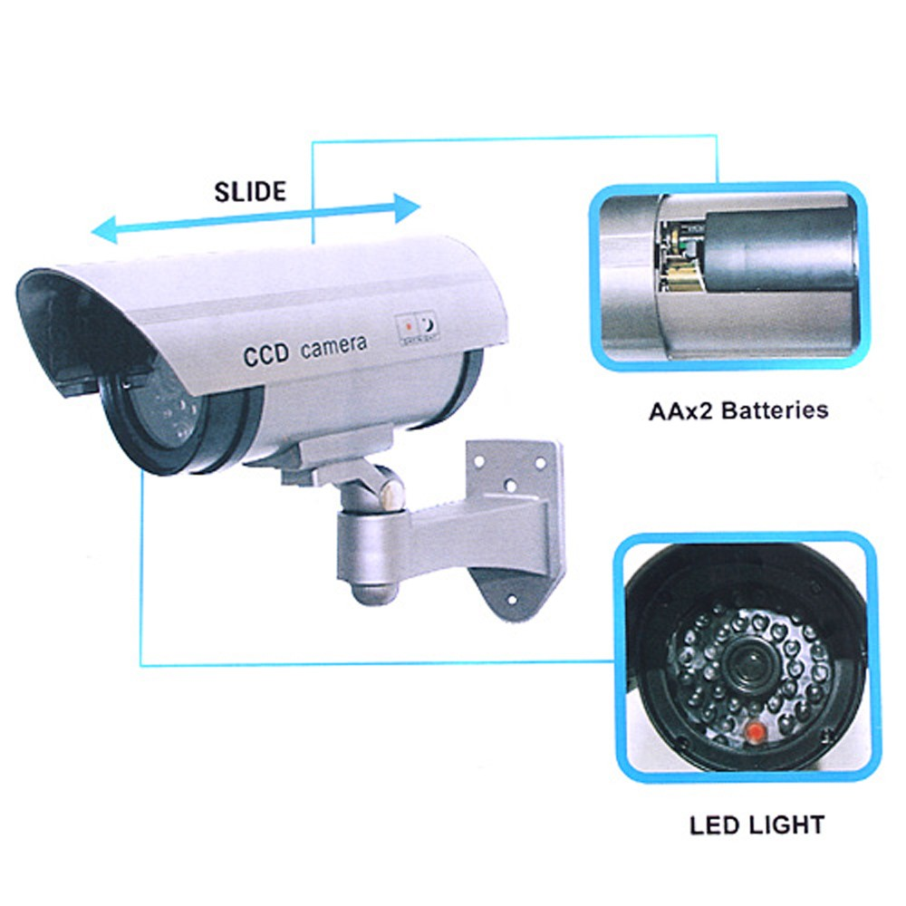 Realistic Looking Fake Camera wireless Security CCTV Bullet fake Camera wifi Outdoor Waterproof Flash IR LED Light