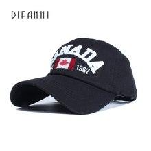430453f4ca109 Difanni 2017 coton Gorras Canada casquette de Baseball drapeau du Canada  chapeau Snapback réglable hommes casquettes
