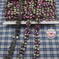 2yard Lot High Quality Color Diamond Black Chain Lace Trim Ribbon DIY Sewing Decorative Garment Accessories