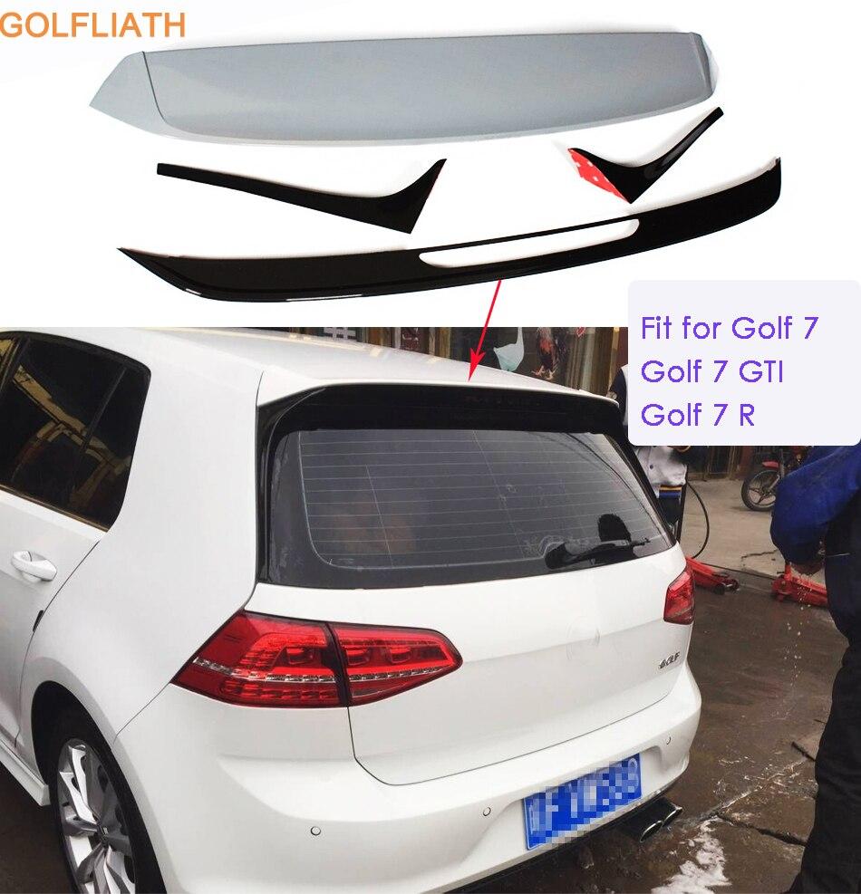 GOLFLIATH Rear Roof Spoiler Wing Lip Fit For VW Golf 7 MK7 & GTI & R UNPAINTED 2014-2016