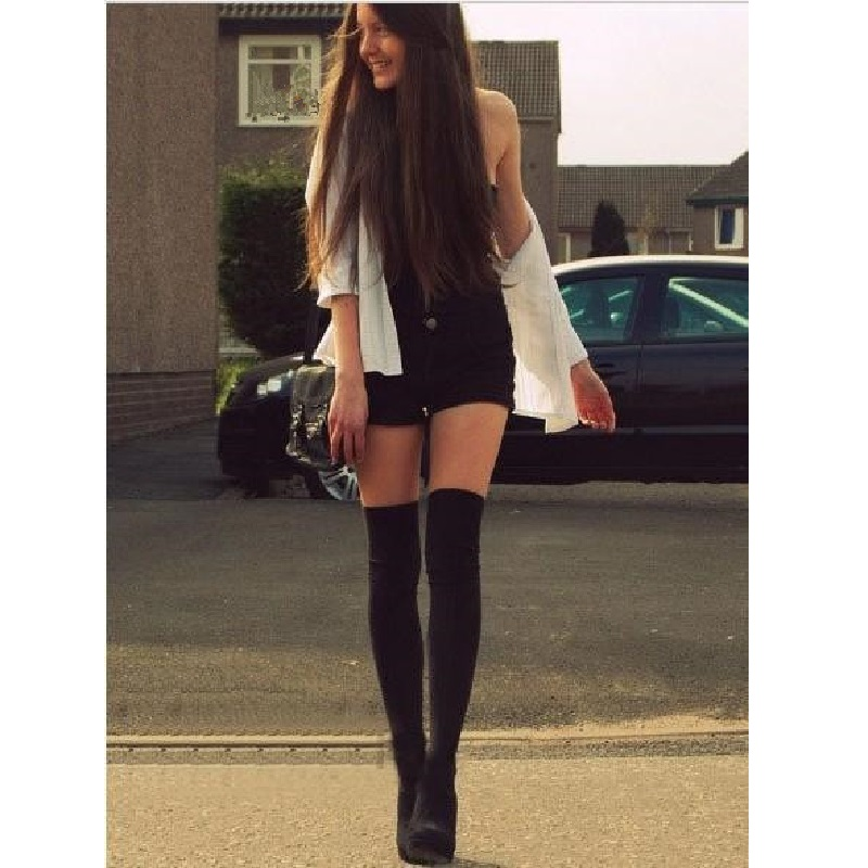 2017 SEXY fashion Lovely Heart Pattern False High Stocking Pantyhose For Women Sexy Black Fancy Tights For Girls Fashion Charms