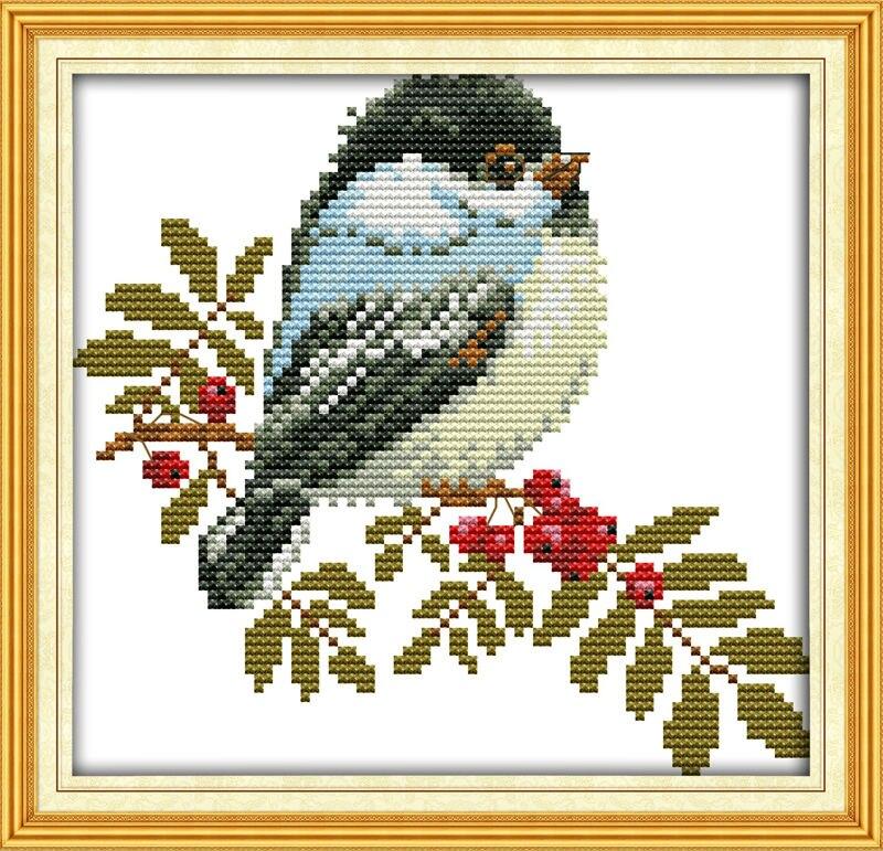 Un joli petit oiseau Imprimé sur Toile DMC Compté Chinois Point De Croix  Kits imprimé Croix-point de Broderie Couture définir 2d54dc67f1cd