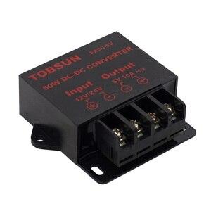 12В 24В до 5В 10А 50 Вт DC преобразователь понижающий редуктор регулятора модуль трансформатора источник питания для светодиодных лент освещения ТВ автомобиля CE