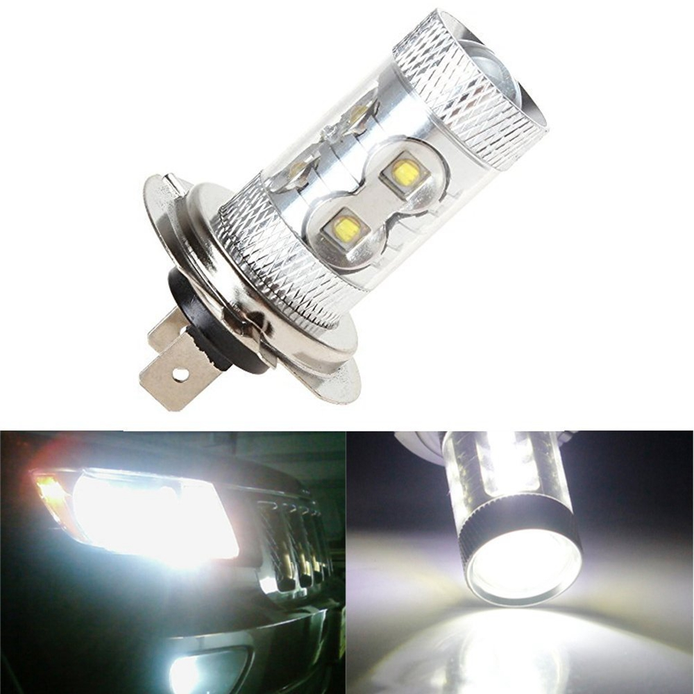 1pcs Super Bright H7 LED Fog Light Parking High Power Led Car Fog Lamp Auto Bulb Xenon Car Styling White Led DRL Bulb 1pcs high power h3 led 80w led super bright white fog tail turn drl auto car light daytime running driving lamp bulb 12v