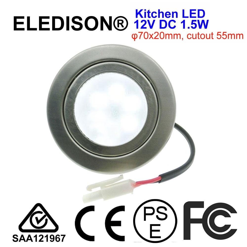 Dc 12 v 1.5 w fosco cozinha capuzes luz led 55mm buraco tampa leitosa fumaça exaustor ventilador 20 w halogênio lâmpada equivalente