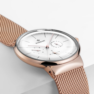 Image 4 - 女性の腕時計トップブランドの高級日本クォーツムーブメントステンレス鋼スライバー白ダイヤル防水腕時計レロジオ feminino