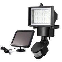 100LED Luz Sensor De Movimento Movido a energia solar com Painel Solar, iluminação ao ar livre CONDUZIU projectores De Segurança para jardim/garagem/pathway