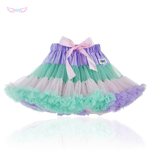 Fashion Fluffy Chiffon Pettiskirts tutu Baby Girls Skirts Princess skirt dance wear Party clothes