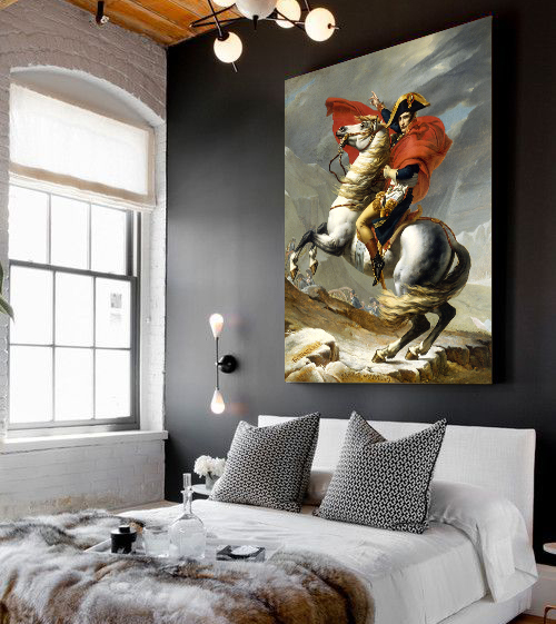 Kings Home Decor: French King Napoleon Canvas Art Oil Painting Home Decor