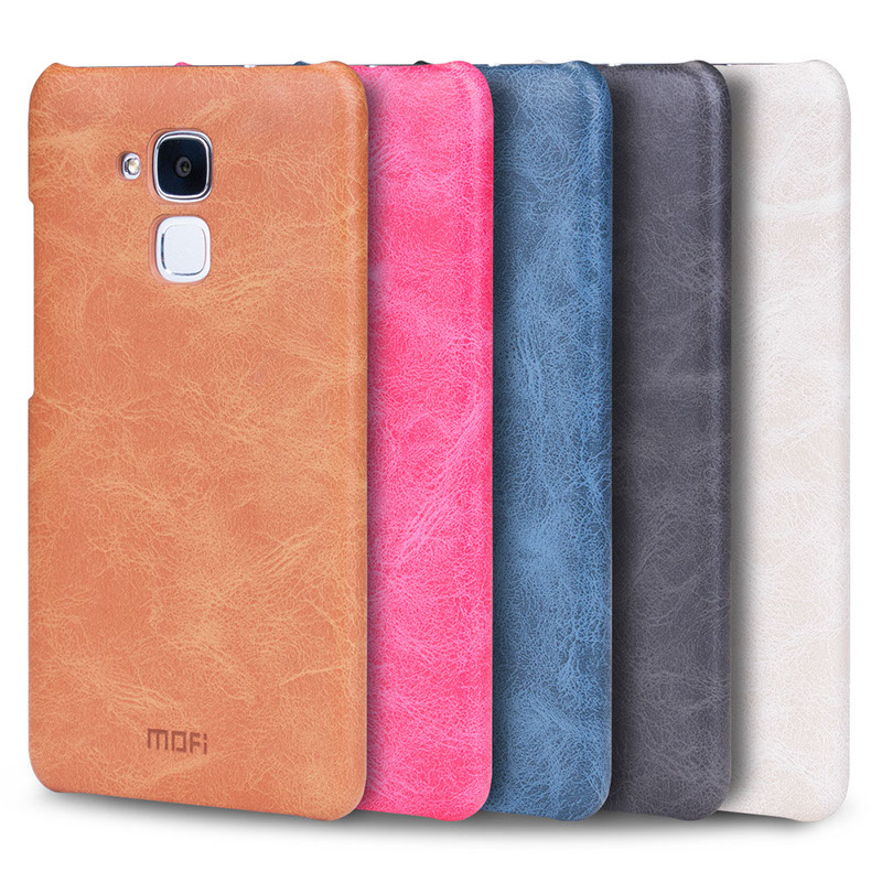 finest selection df57a 7ab39 US $9.99  Huawei honor 5c case 5.2 inch MOFi original Huawei honor5 case  cover leather back capas luxury fundas honor 5c hard case -in Fitted Cases  ...