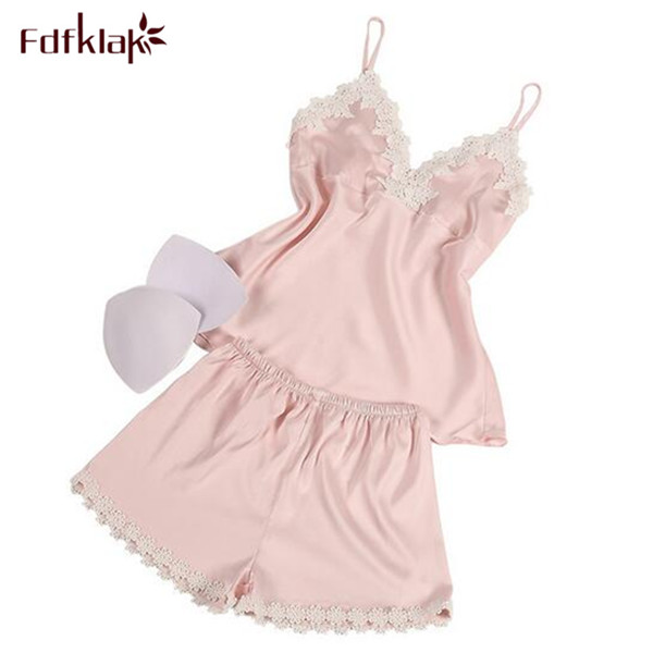 Fdfklak 8 Styles Pijama Summer Underwear Set Home Clothes Pajama Combination Night Suits Ladies Family Set Pajamas SleepwearQ397