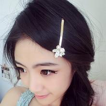 Barrettes las Nuevas mujeres de Corea accesorios para el Cabello Rhinestone de La Perla Clips Flor Del Pelo