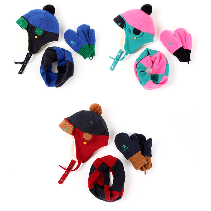 5cd562bc099 Baby Boys Girls Winter Hat Scarf And Glove 3Pcs Set Children 1 10 yrs 2018  Fashion Kids Boy Warmer Ear Protection Christmas Gift-in Hats   Caps from  Mother ...