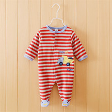 Free shipping baby clothing cartes footed rompers cotton baby rompers baby jumpsuit baby pajamas top quality