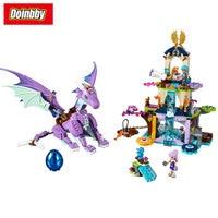 The Dragon Sanctuary Cherry Tree Princess Elf 10549 Model Building Blocks Fairy Toys Bricks Compatible with Legoings Elves 41178