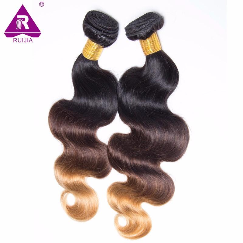 8A Grade Ombre Mongolian Body Wave Virgin Hair 3pcs Mongolian Ombre Hair Human Hair Weave Dark Brown 1B 4 27 Tissage Bresilienne (50)