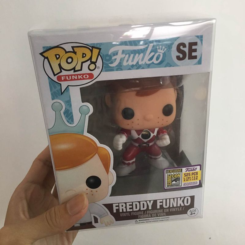 Fundays 2017 Exclusive Funko pop Official Freddy - Red Ranger Limited Edition 525pcs Vinyl Action Figure Collectible Model Toy n 2015 new spot american original funko pop dc comics hero knell deathstroke limited doll