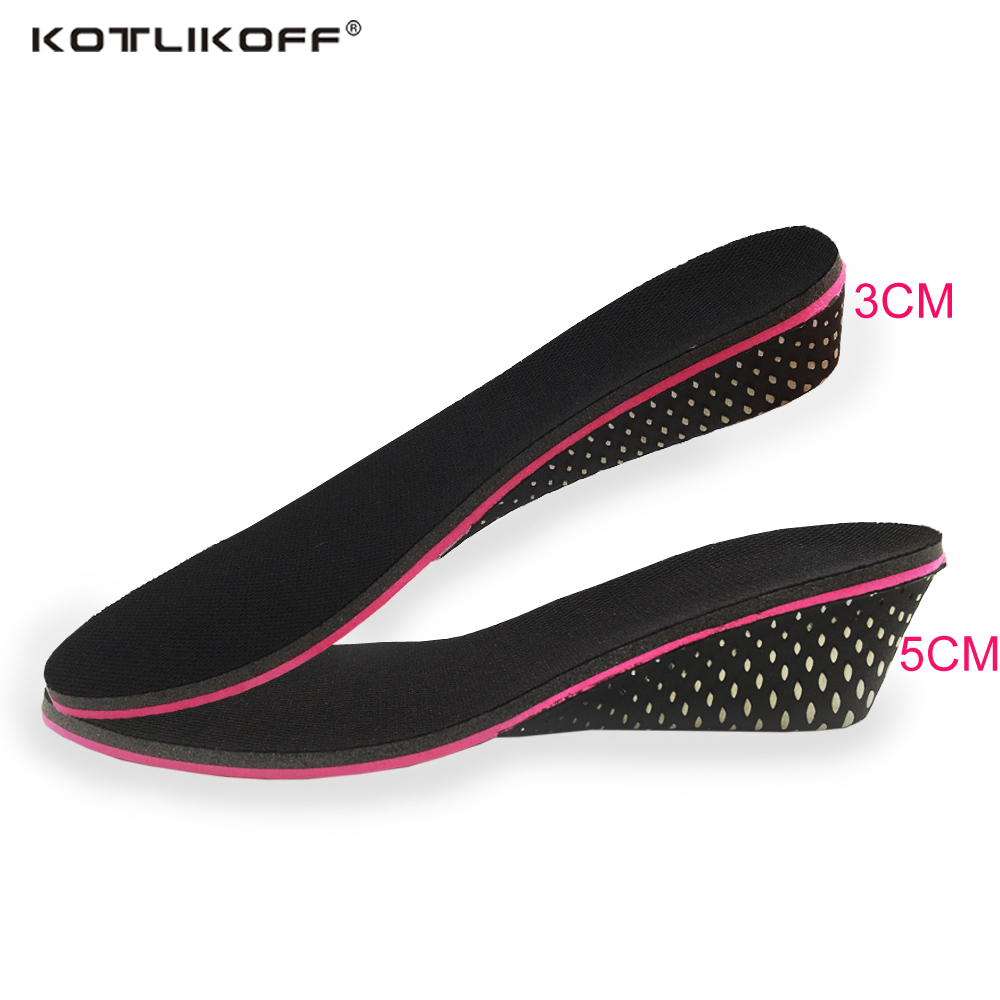 KOTLIKOFF Height increase insoles memory foam shoe pad inserts insoles foot pad lift 3-5 cm up for women men shoes accessories цена