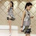 New Summer Fashion A-line Pregnancy Women Organza Dress Sleeveless Design Casual Pattern