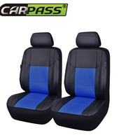 Car pass car seat covers pu artificial leather two front seat cover waterproof universal car seat cover for audi golf mazda lada