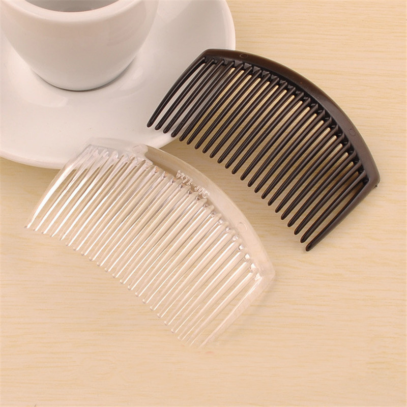 (50 pcs/lot) 85*55mm plastic resin hair combs base black /transparent brushed vintage hair combs base setting fc079