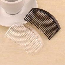(50 قطعة/الوحدة) 85*55 مللي متر البلاستيك الراتنج الشعر combs قاعدة أسود/شفاف نحى hair الشعر قاعدة إعداد fc079