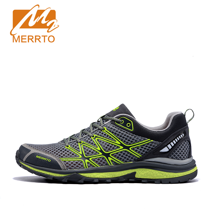 MERRTO Men Outdoor Breathable Running Shoes Cushioning Trail Running Shoes For Men Women Lightweight Trainers Outdoor Sneakers 2017brand sport mesh men running shoes athletic sneakers air breath increased within zapatillas deportivas trainers couple shoes
