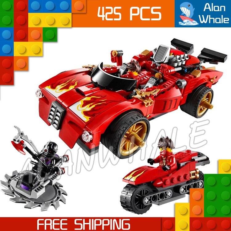 425pcs Bela 9796 New 2016 X-1 Ninja Charger Kai Building Blocks Sets Figures DIY Educational toys Bricks Compatible With lego