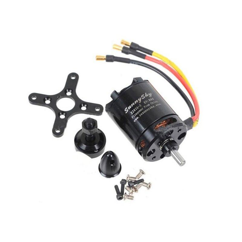 1 pcs SunnySky X2826 550KV 740KV 880KV 1080KV Outrunner External Brushless Motor for RC Helicopter 2017 dxf sunnysky x2206 1500kv 1900kv outrunner brushless motor 2206 for rc quadcopter multicopter