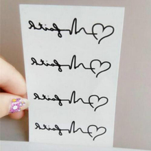 Temporary Tattoo sticker for body art heart beat wave water transfer flash tattoo fake tatoo for men women tattoos