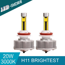High Power Auto H11 LED Car Bulbs H11 Brightest Conversion Kit Fog Lamps 3000K 20W 2400LM Golden Lights 12V LED Lamp