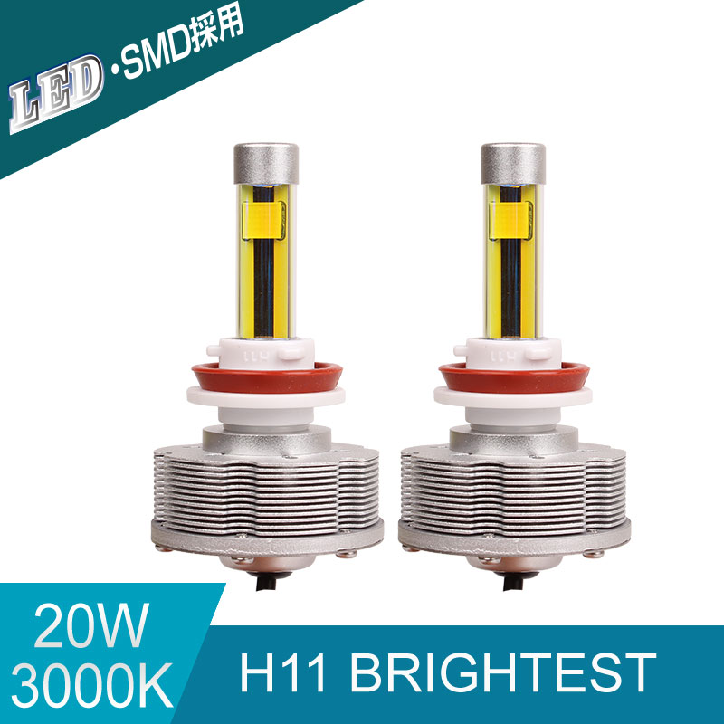 все цены на High Power Auto H11 LED Car Bulbs H11 Brightest Conversion Kit Fog Lamps 3000K 20W 2400LM Golden Lights 12V LED Lamp онлайн
