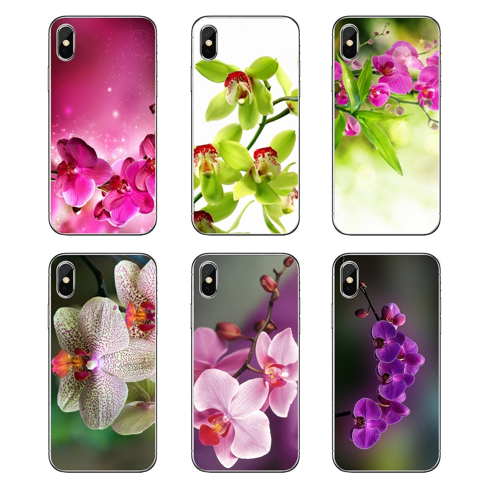 Us 099 Orchid Flowers Hd Wallpaper Transparent Soft Shell Covers For Nokia 2 3 5 6 8 9 230 3310 21 31 51 7 Plus In Half Wrapped Cases From