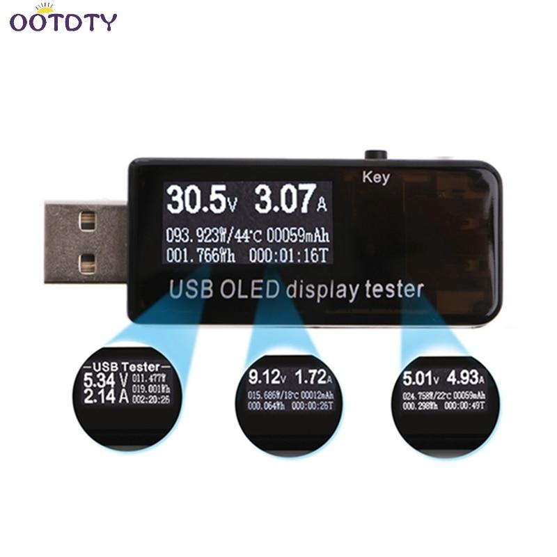 USB Tester Digital Voltmeter Current Voltage Ammeter Detector Charger Indicator-25