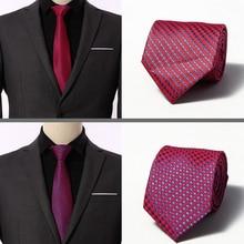 New Brand Gravata Striped Print Blue Silk Neck Ties For Men Tie 8 cm  Wedding Neckties Mens Necktie Cravate