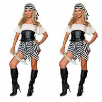Caribbean Pirate Warrior Costume Women Halloween Pirate Costume Dress Female Fantasias Stage Wear Fantasy Party Cosplay