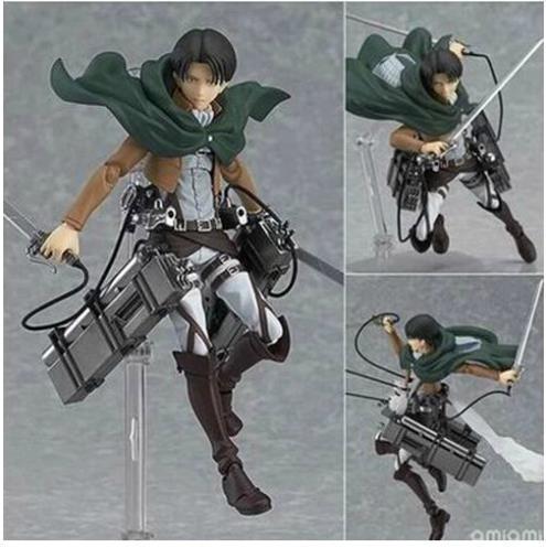 """Ataque on Titan Shingeki no Kyojin Rivaille Figma 213 Boxed acción PVC Figure Model Collection Toy 6 """" 14 CM"""