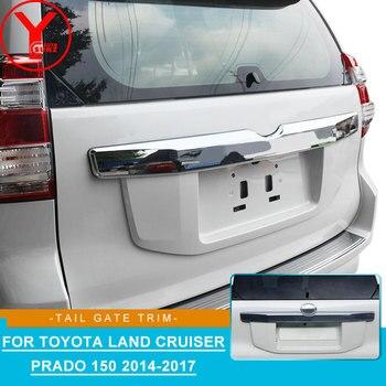 Chrome tail gate trim สำหรับ Toyota Land cruiser Prado 150 2014-2017 รถบรรทุก ABS อุปกรณ์เสริมสำหรับ toyota prado 150 2015 2016 YCSUNZ