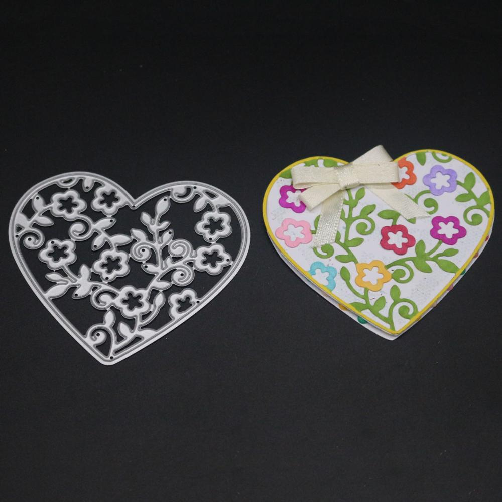 AZSG Loving and lovely Cutting Dies For DIY Scrapbooking Dies Decoretive Embossing DIY Decoative Cards Die Cutter in Cutting Dies from Home Garden