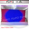 Удивительно высокая яркость Красочные 3in1 светодиодными лампами 3x6 м ktv дисплей экран P15 механизированные занавесы для DJ событие