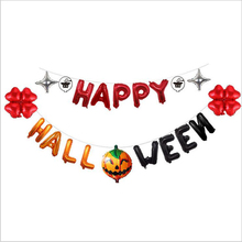 Happy Halloween 16inch Letter Foil Balloon Cute Pumpkin Clover Stars Air Balloons Banner Horror Party Favor Decoration