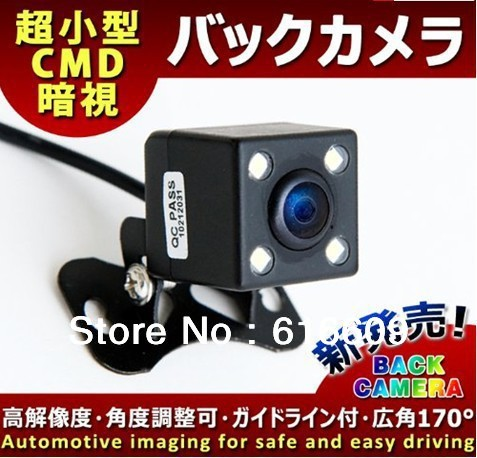 2012 new CCD car camera with high quality for all vehicles /170 degree night vision free shipping