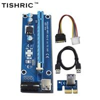 10pcs TISHRIC VER006 60cm PCI E Extender PCI Express Riser Card 1x To 16x USB 3