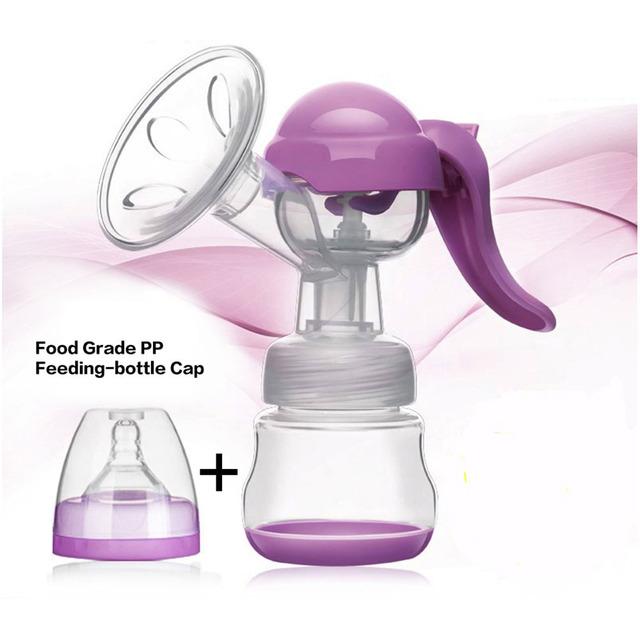 PP de la Categoría Alimenticia de Succión Ordeñador Extractor de leche Materna Ordeñador Sacaleches Manual de Succión + 150 ML de Almacenamiento de Bebé Biberón Pezón BPA ENVÍO
