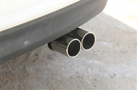Stainless Steel Exhaust Muffler End Tip Pipe Cover For Hyundai Elantra 2012 2014