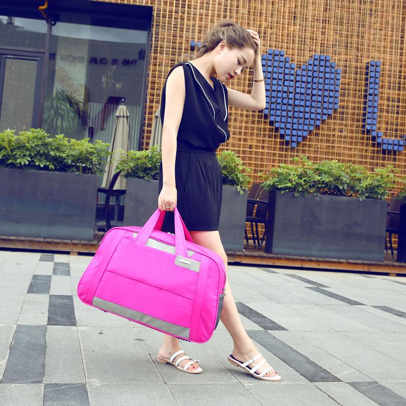 2018 Women Travel Bags Solid Waterproof Handbag Ladies Large Capacity Travel Bag Bolsa Feminina Female Multifunctional Bags
