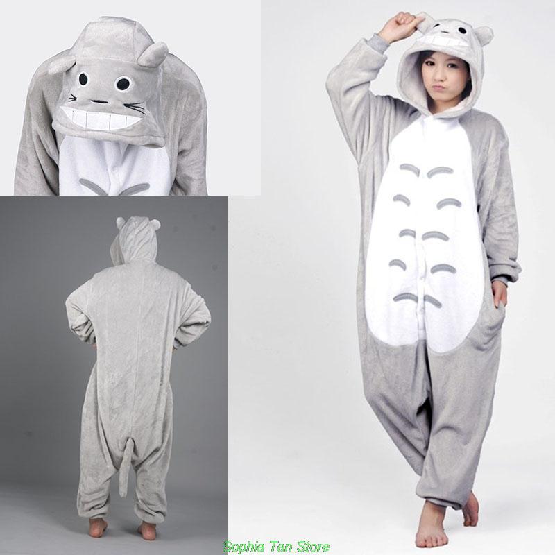 640fe23c84b0 New Adult Onesie Pyjama Sleepers Nighty Unisex Women Men Pajamas Cosplay  Japan Costume Cute Cartoon Animal Neighbor Totoro-in Pajama Sets from  Underwear ...