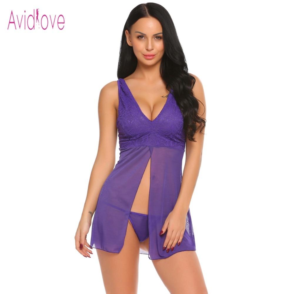 Avidlove Lady Lingerie Porn Nightwear Dress Women Mini Babydoll ...