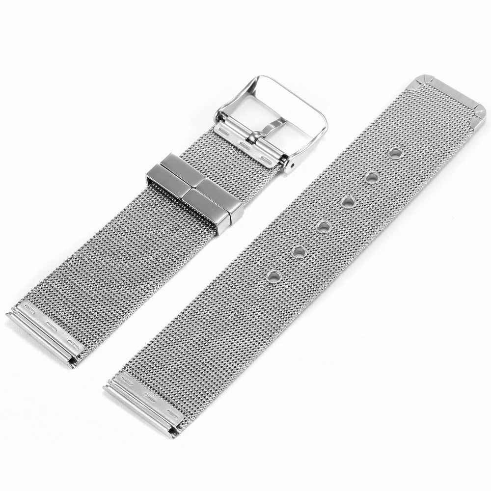 Fashion Military 20mm Width Men Watch Belt Stainless Steel Mesh Watches Band Replacement Accessories For Wristwatch