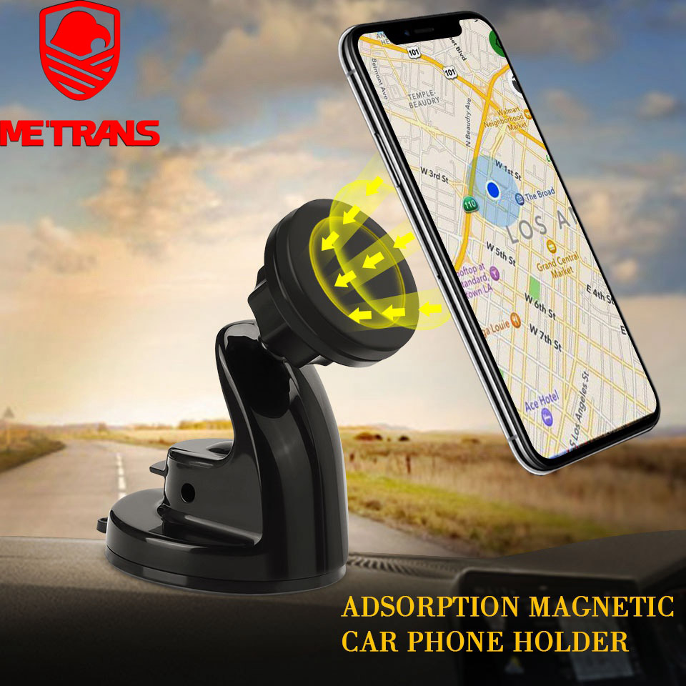 Metrans Magnetic Car Phone Holder Windshield Car Mount Mobile Phone Stand Holder For iPhone Samsung 360 Degree Rotation HolderMetrans Magnetic Car Phone Holder Windshield Car Mount Mobile Phone Stand Holder For iPhone Samsung 360 Degree Rotation Holder